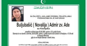 Posmrtnica Buljubasic Admir